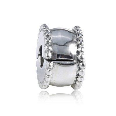 凱莉代購 Pandora 潘朵拉 S925純銀新款手鍊diy珠子配件素銀光面定位扣  預購特價