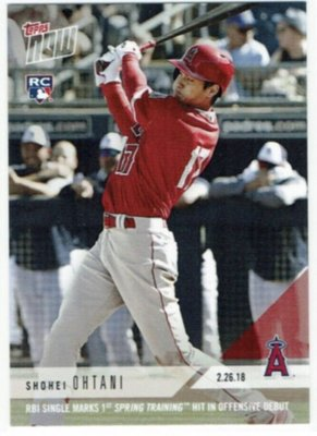 2018 MLB Topps Now 大谷翔平 春訓打者版新人卡一張