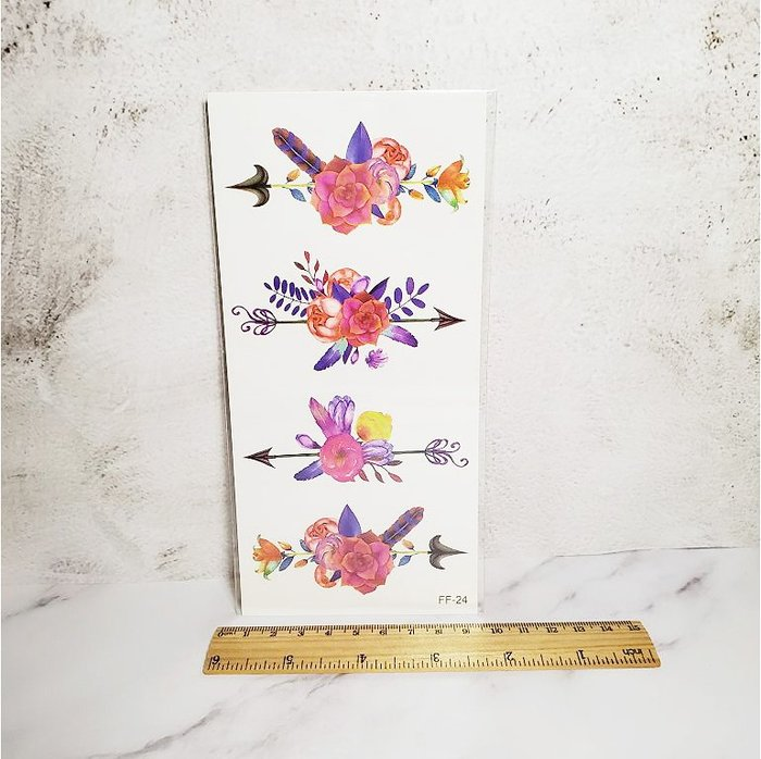 【萌古屋】箭頭花朵 - 男女防水紋身貼紙刺青貼紙FF-024 K19