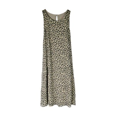 【Abercrombie&Fitch】【A&F】】【零碼S】AF女款洋裝無袖寬肩豹紋 F04150623-06