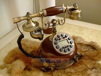 149華城小鋪*超取當日出貨***古董電話 仿古 復古 有線電話 來電顯示 造型 樹脂仿古銅象雕