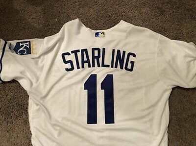 2019 MLB KC ROYALS 皇家 #11 STARLING GAME ISSUED 150TH JERSEY