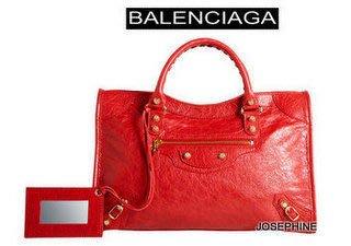 喬瑟芬【BALENCIAGA】賠售清倉起標95折~金釦*281770 Rouge Cardinal紅色6420機車包