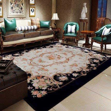 地毯客廳歐式茶几可機洗臥室長方形布藝沙發玫瑰花簡約現代