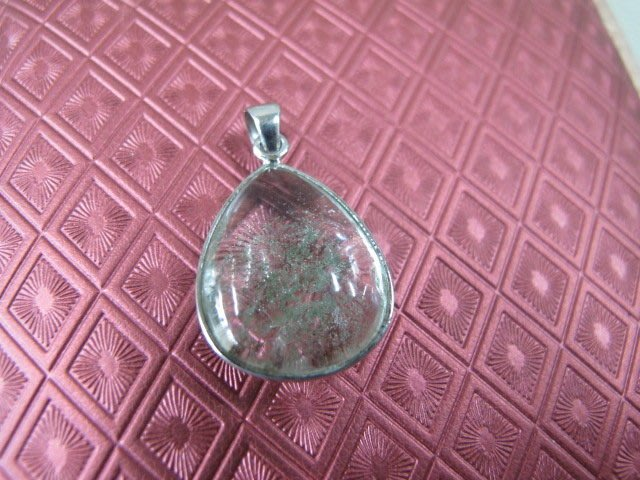二手舖~ NO.46 天然綠幽靈水晶墜子