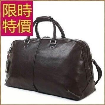 真皮行李袋-好收納可肩背時尚百搭男手提包1色59c40[義大利進口][米蘭精品]