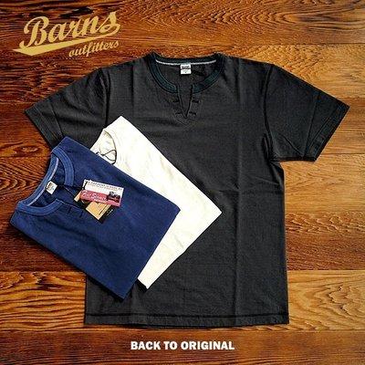{BTO}【Barns Outfitters】復古開口領 重磅滾筒Skipper 短Tee