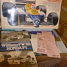 Vintage Tamiya 1/10 RC William FW 11B Honda F1