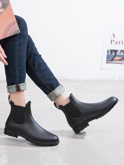 999時尚雨鞋女短筒雨靴成人加絨防水套鞋膠鞋防滑切爾西水鞋YC0310