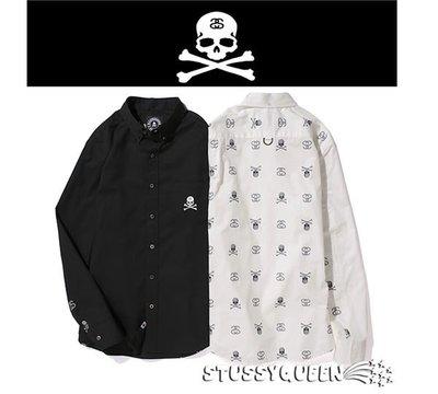 【現貨】全新正品聯名Stussy X Mastermind JAPAN MMJ Shirt  骷髏長袖襯衫S~XL日本製
