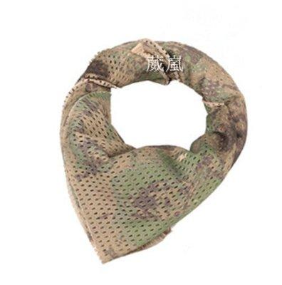 01  透氣 迷彩 圍巾 深色多地形 自行車 腳踏車 旅遊 登山 口罩 頭巾 領巾 方巾 三角巾 生存遊戲 防塵 防曬