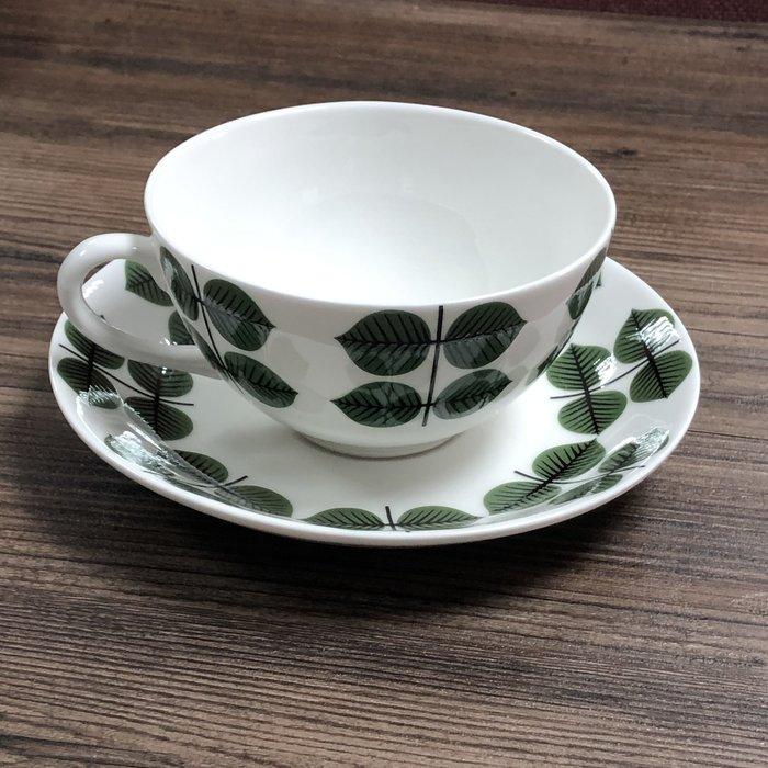 【小麥的店】北歐瑞典Gustavsberg Berså  Bersa 骨瓷茶杯盤兩件組(非老件)