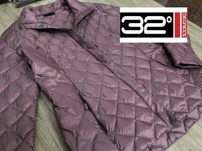 @_泰拉谷瑪 : 九成新_m號美國品牌32heat_32 DEGREES豆沙色菱形格輕羽絨外套