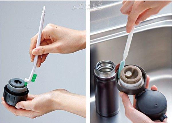 日本製保溫瓶清潔刷--秘密花園--瓶栓間隙清洗刷具組/保溫瓶清潔刷具/瓶蓋刷