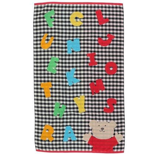 (預購)Rainbow Bear日本彩虹熊紗布大浴巾(PLAY)黑色~Jennifer的異想世界~