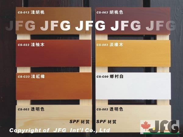 JFG 木材批發 *【德國BASF水性耐侯漆】CS-023 淺柚木色 木材加工 木器漆 木屋 木板 信箱 木工