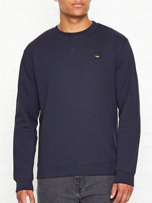 英倫風格時尚 MCQ ALEXANDER MCQUEEN Swallows 品牌經典燕子LOGO衛衣 M