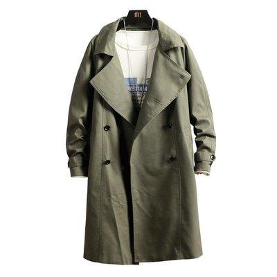 風衣唐人街探案唐探3双排扣气质刘昊然同款风衣绿色衣服长款外套