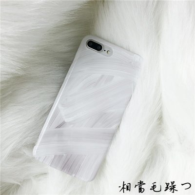 蘋果x手機殼透明光面iphone8plus ins同款冷淡風7P創意涂鴉6S女款蘋果手機殼