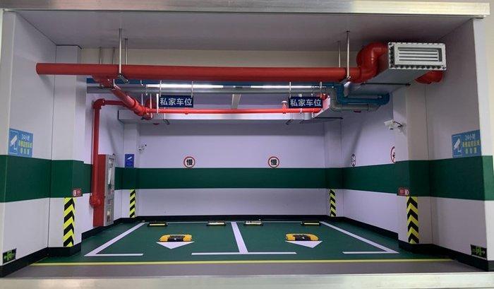 汽車模型車庫停車場1 18車模仿真地下停車位展示防塵兒童玩具