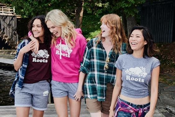 ☆COOKIE@ROOTS☆2019款-內裡鋪棉小海獺連帽T恤!!購於台北統領專櫃-正品-只有一件粉紅S-專櫃2780