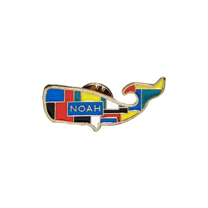 ☆AirRoom☆【現貨】2018AW NOAH +NYC Patchwork Whale Pin 諾亞 鯨魚 別針