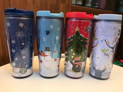 星巴克 Starbucks 台灣 隨行杯 16oz 雪人 聖誕樹 聖誕限量 星星浮雕 冰柱浮雕 全新未使用 每款800元 下標前請註明要哪款 每款只有1個