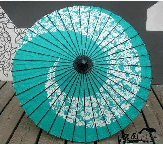 【優上精品】高級骨架跳舞傘,COS道具傘,綠色櫻花藤紙傘,舞蹈傘古典和風 高(Z-P3272)