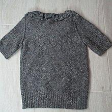 法國 桑麗卡SONIA BY SONIA RYKIEL羊毛 安哥拉毛 珍珠 短袖毛衣上衣/M