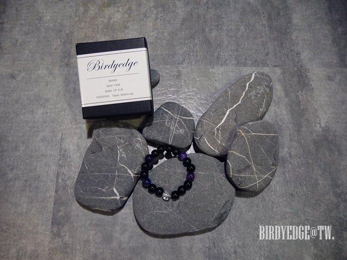 BIRDYEDGE 男女 水晶爆裂 紫渲染麻腦  手環 配件 單品  情侶