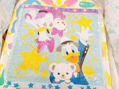 原裝日本 Disney Unibearsity 大學熊 Donald Daisy 方巾 毛巾 方毛巾 特價 $20
