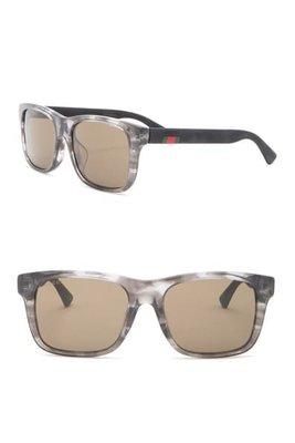 GUCCI 54mm Rectangle Sunglasses