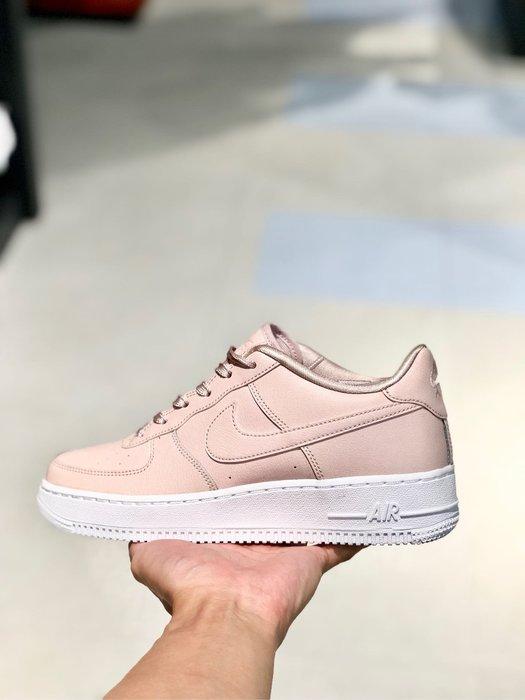 【Cheers 】Nike Air Force 1 SS GS 女鞋 大童 粉白 櫻花粉 復古  AV3216-600