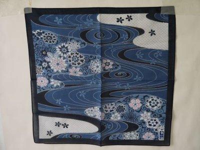 日本藍染小方巾3