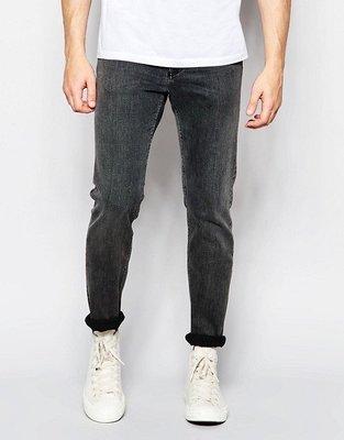[Weekday-Friday Skinny Jeans in Stretch Base Black] Size:W28