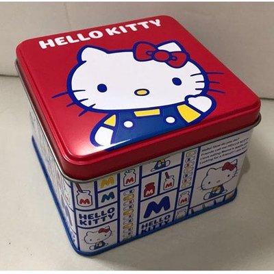 三麗鷗 HELLO KITTY 凱蒂貓 雙子星 方型鐵置物盒 收納盒 置物盒 小物盒 鐵盒 兩款