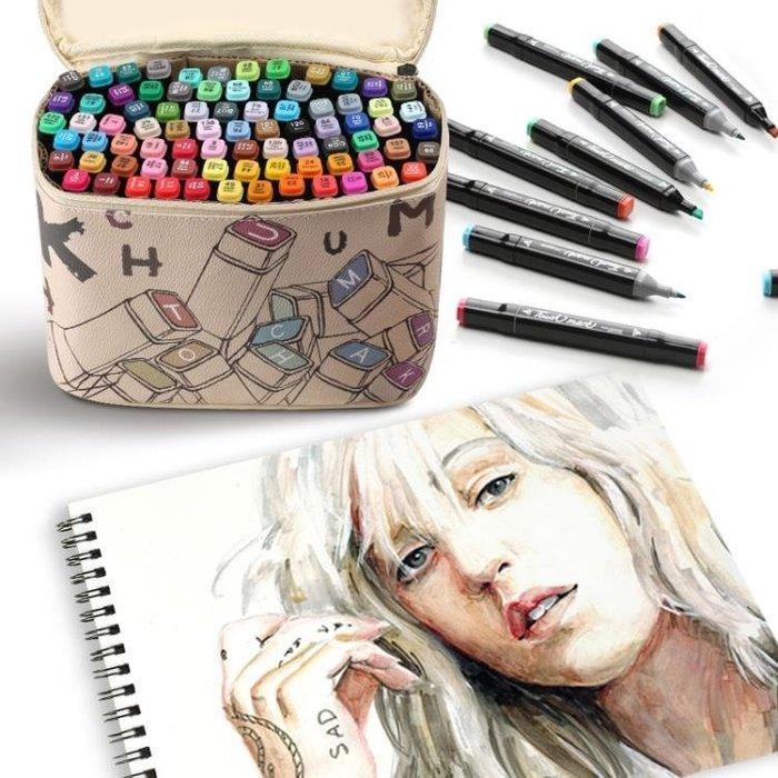 touch mark麥克筆套裝繪畫學生手繪設計動漫60/80色雙頭油性