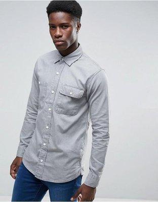 【零碼出清】 Waven 灰色牛仔襯衫 L號 尺寸偏大