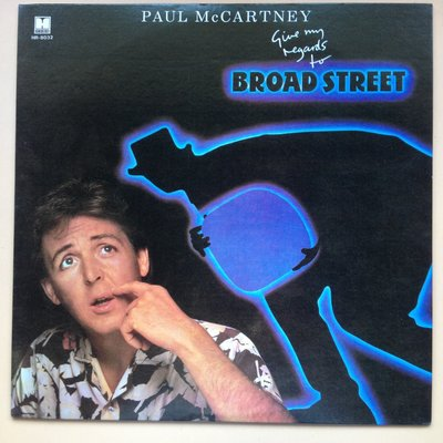 ##黑膠唱片 PAUL McCARTNEY  give my regards to BROAD STREET