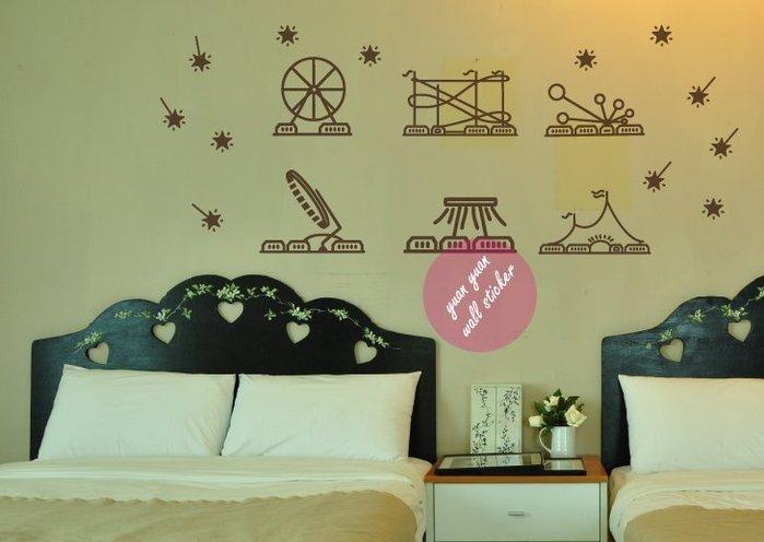 【源遠】夢想遊樂園【CH-01】(M)壁貼壁紙 室內設計 民宿 車身貼紙 創意 玻璃貼紙 透明貼紙