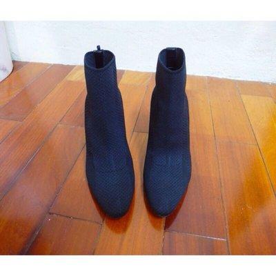 Kedi 小舖 Zara 黑色 金屬高跟 織布裸靴