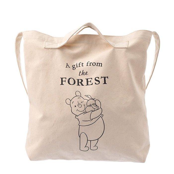 《FOS》2019新款 日本 迪士尼 小熊維尼 二用 購物袋 環保袋 手提袋 手提包 Disney 可愛 限量 熱銷