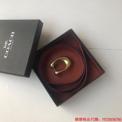 娜娜正品代購 COACH 31114 寇馳 女用皮帶(有花咖啡) COACH皮帶 附購證
