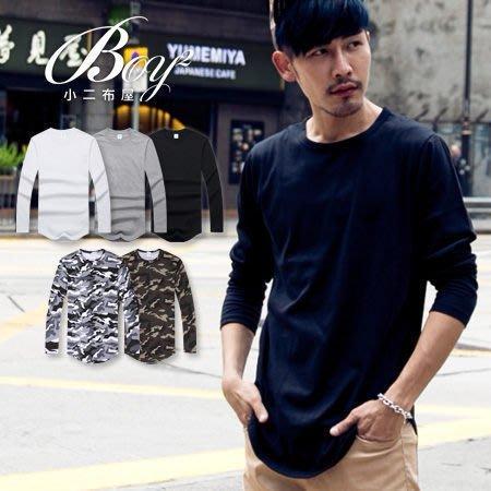 BOY2小二布屋-韓版男裝下擺圓弧長版T恤【PPK86133】