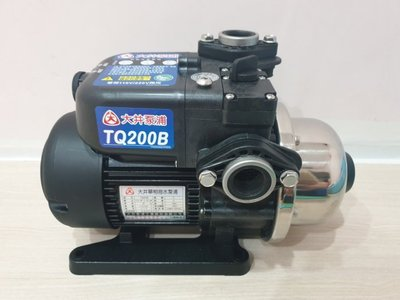 【優質五金】馬達保固三年 大井TQ200B 電子穩壓加壓馬達*加壓機*非舊款TQ200