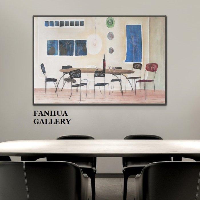C - R - A - Z - Y - T - O - W - N 鄉村美式餐桌椅子掛畫紅酒杯子橫幅版畫餐廳小眾裝飾畫當代簡約藝術畫美學空間設計師款掛畫工作室畫
