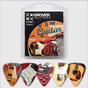 ☆ 唐尼樂器︵☆澳洲製 Grover Allman 主題系列『Guitar』烏克麗麗/木吉他/電吉他 Pick 彈片