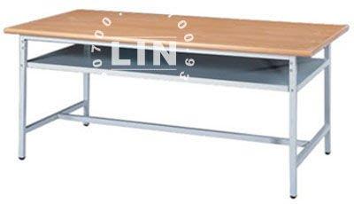 【品特優家具倉儲】◎P002-01會議桌補習桌固定腳木紋檯面會議桌180*45◎
