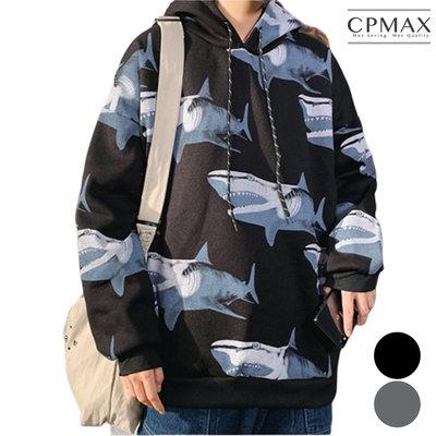 CPMAX 鯊魚連帽加絨外套 帽T外套 舒適保暖 帽t 保暖T恤 大學t  連帽T恤 男生衣著 加絨長袖T恤 T161