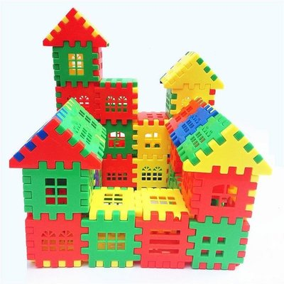 現貨/塑料房子拼插積木玩具3-6周歲1-2-4兒童男孩女孩寶寶創意拼裝小屋178SP5RL/ 最低促銷價